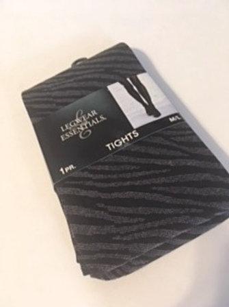 Ladies Size M - L Zebra Print Tights
