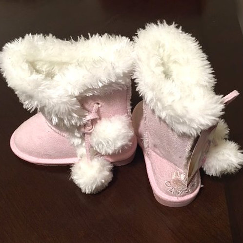 Toddler Girls Size 4 / 5 Pink Side Tie Dawgs Boots