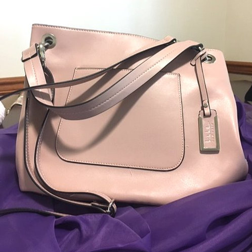 Ladies Large Dusty Pink Hand or Shoulder Strap Purse