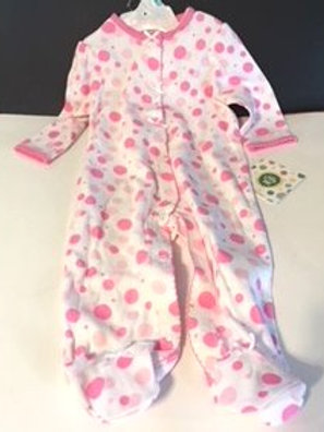 Baby Girl Size 6 Month Little Me Pink Dot Sleeper