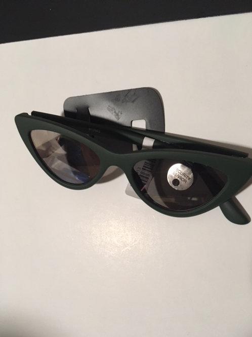 Ladies Green Frame Sunglasses
