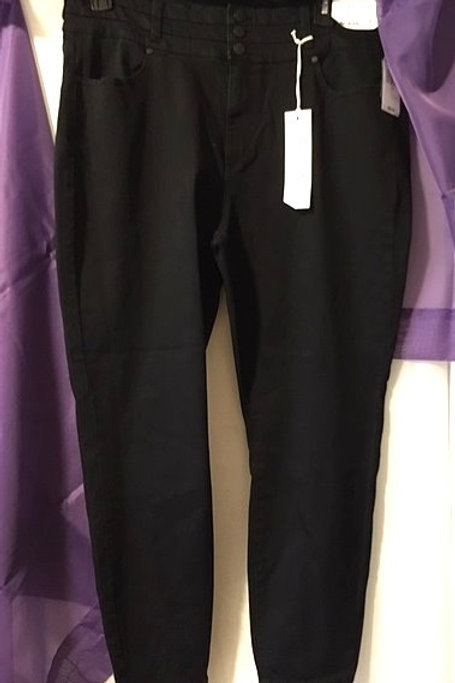 Womens Size 20 Black High Rise Ankle Skinny Jean