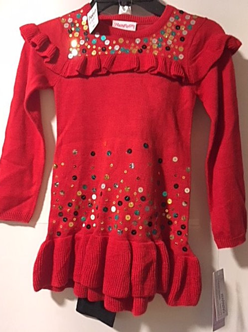 Toddler Girls Size 4 Sweater Top & Leggings Set