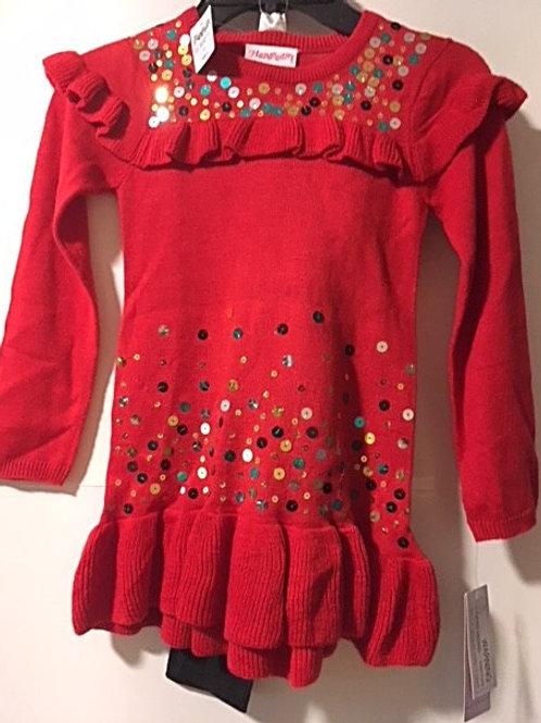 Toddler Girls Size 4 Sweater Top & Leggings Set