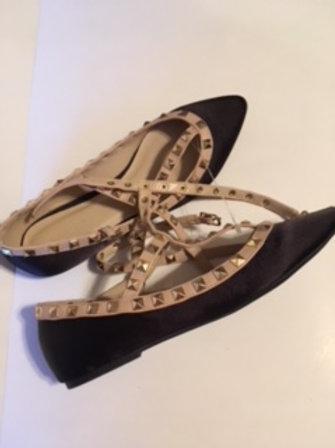 Ladies Black & Taupe Shoes