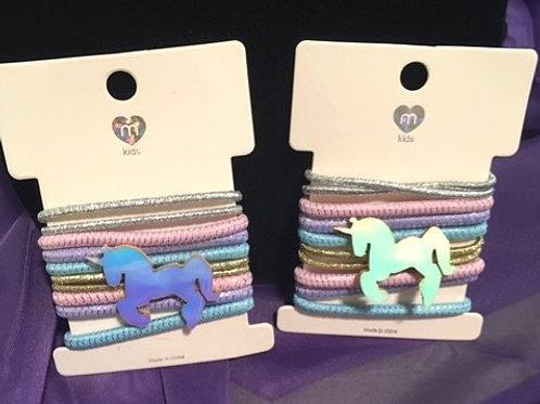 Girls M Kids Multi Pastel Ponytail Holders Set