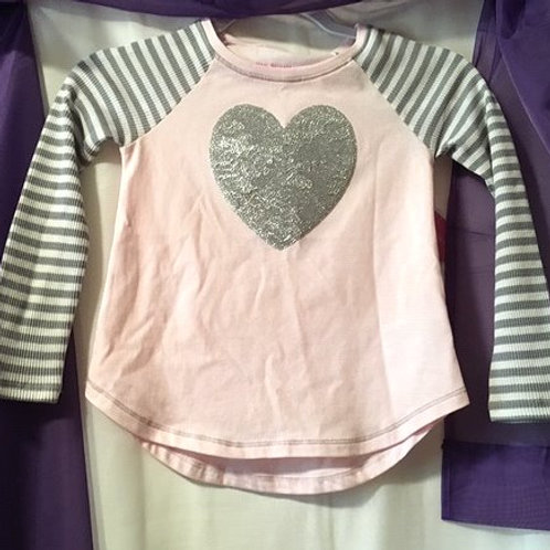 Girls Size Large 6X Pink Long Sleeve Top