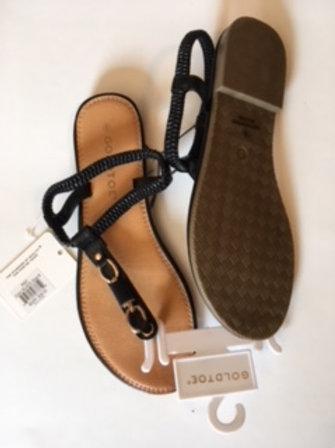 Ladies Size 8 Black Sandals