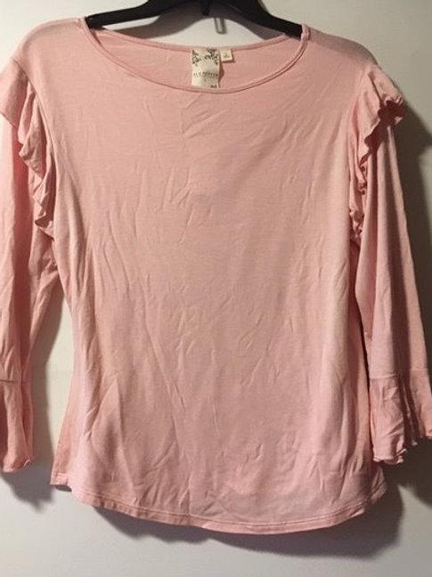 Juniors Pink Bell Long Sleeve Top