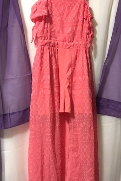 Girls Special Occasion Pink Jumper & Long Skirt