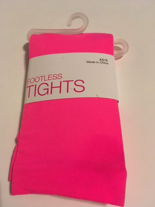Ladies XS/S Hot Pink Footless Tights