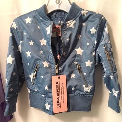 Toddler Girls Size 2 T Blue Zipper Jacket