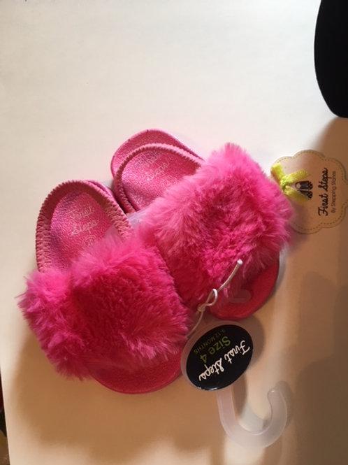 BabySize 4 Hot Pink First Steps Sandals