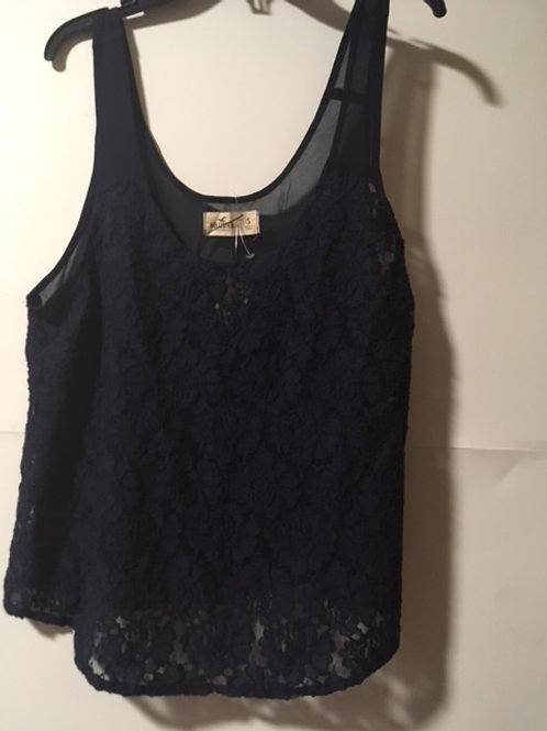 Juniors Size Small Lace & Sheer Top