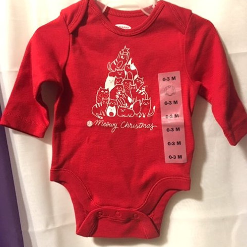Baby Girls Size 0 - 3 Months Red Christmas Old Navy Onesie