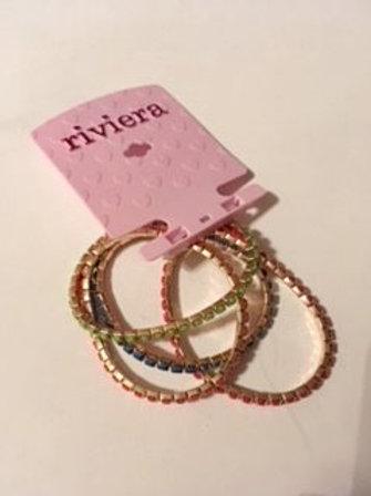 Girls Riviera Stretch Rhinestone Bracelets