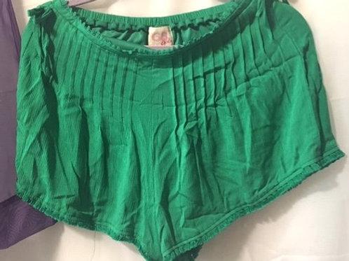 Girls Size Large Green Tassle Shorts
