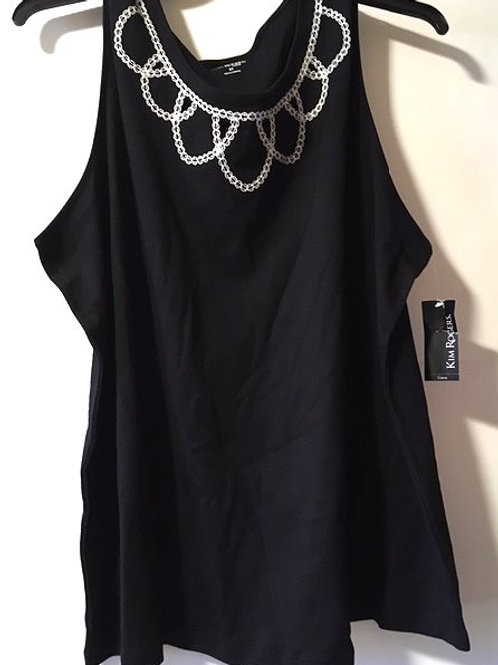 Womens Size 2X Black Sleeveless Top