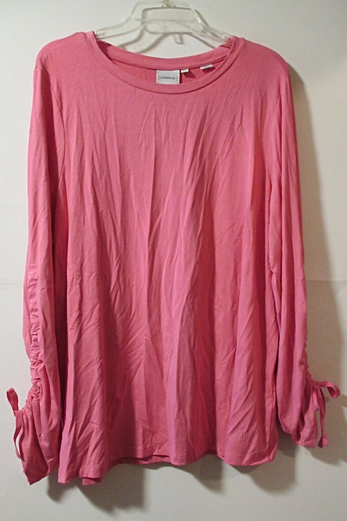 Womens Size 1X Pink Long Sleeve Top