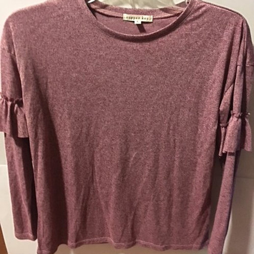 Girls Size Large Dark Red Copper Key Top