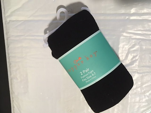 Girls Size 4-7 Two Pair Copper Key Tights