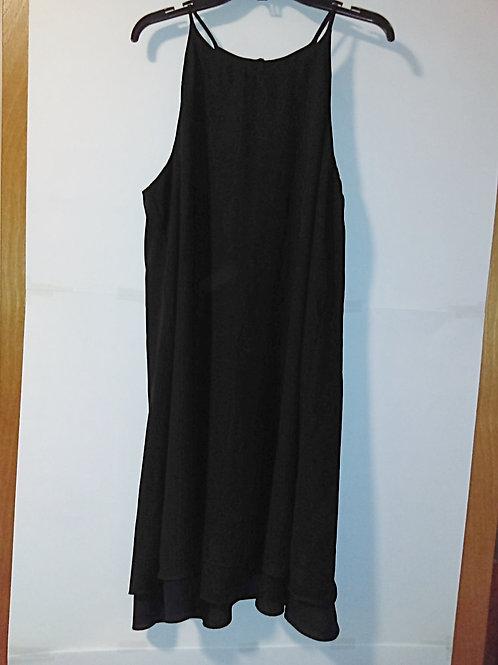 Juniors Size XL Black Spaghetti Strap Dress