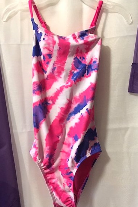 Girls Size 6 Tie Dye One Piece Swimsuit