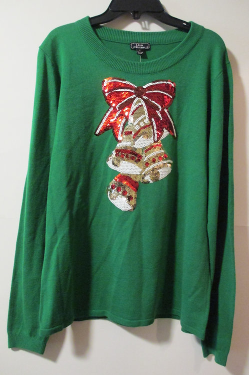 Ladies Size Large Green Christmas Sweater