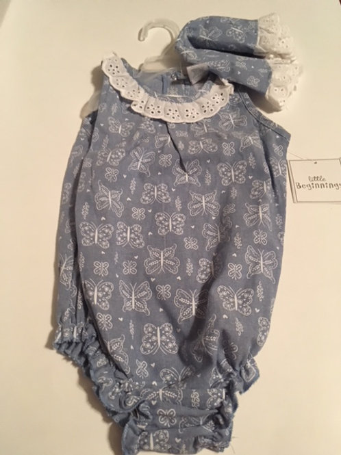 Baby Girl Romper & Hat