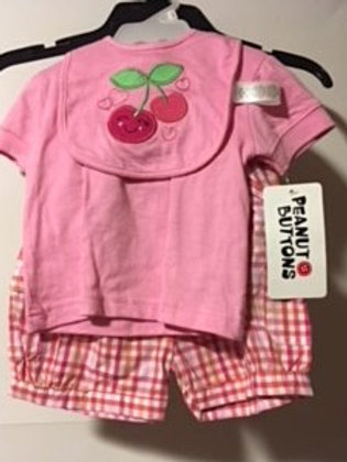 Baby Girl Size 12 Month Peanut Buttons Shorts Set