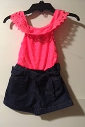 NWT Toddler Girl Size 2T Shorts Romper