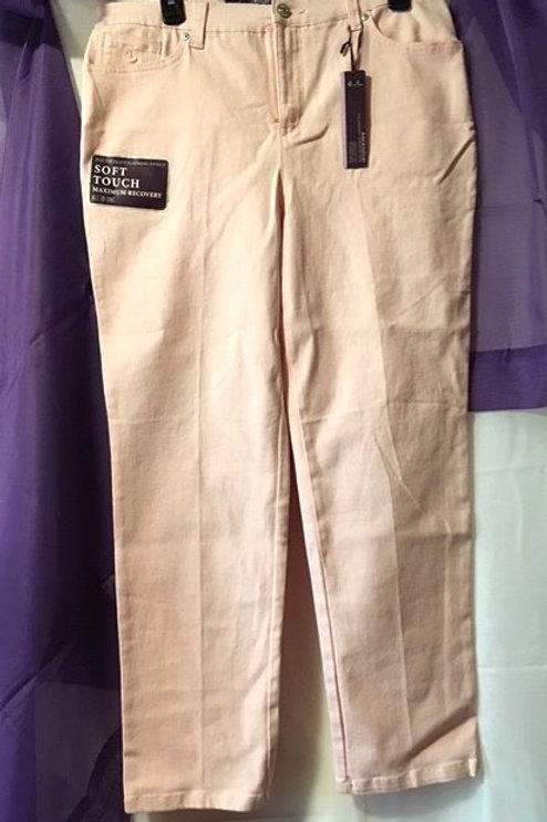 Ladies Size Petite 12 Average Pink Slimming Jean