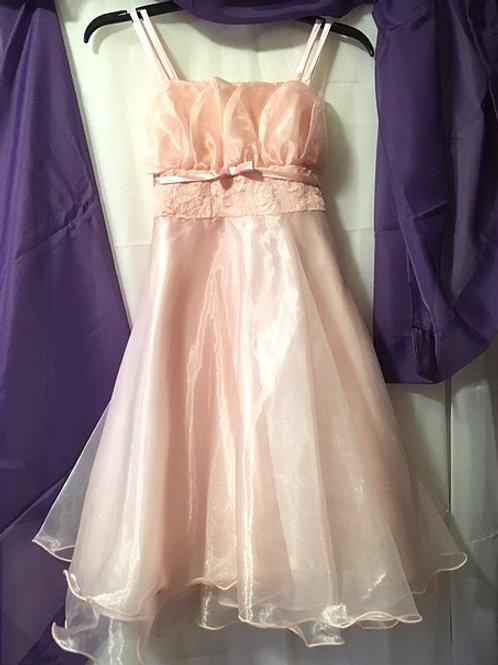 Girls Size 14 Pink Short Special Occasion Dress