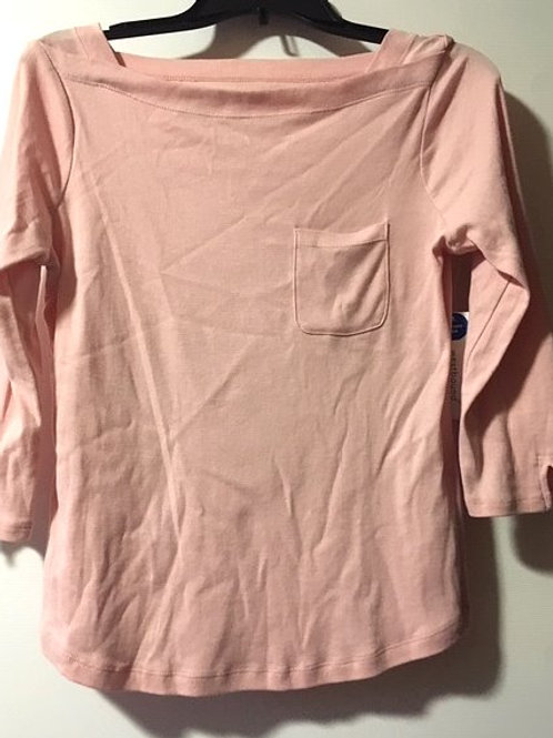 Ladies Size Small Petite Pink 3/4 Sleeve Top