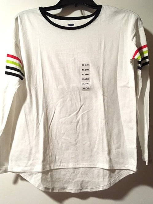 Girls Size XL 14 White Long Sleeve Top