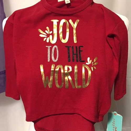 Toddler Girls Size 2T Red Graphic Copper Key Christmas Top