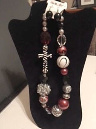 Ladies Large Bauble Necklace & Earrings