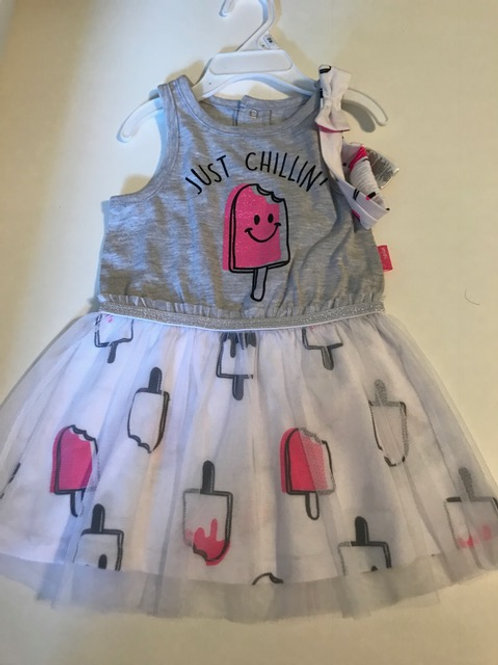 Baby Girl Size 12 Month Headband & Dress Set