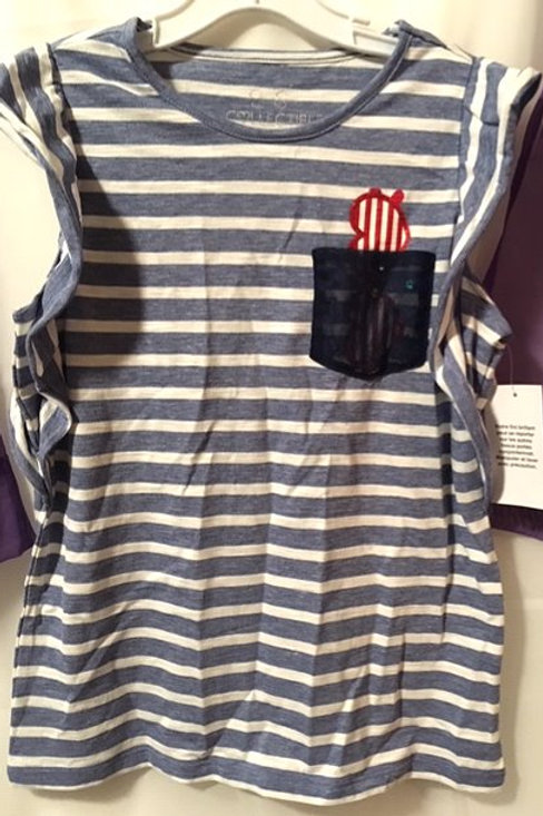 Girls Size Large 14 Ruffled Capped Sleeve Top
