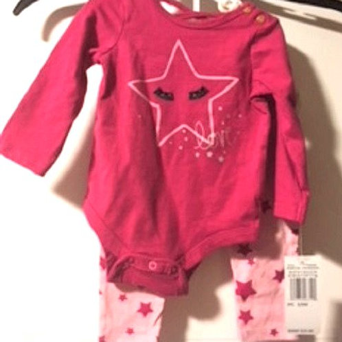 Baby Girl Size 3 - 6 Month Two Piece Set