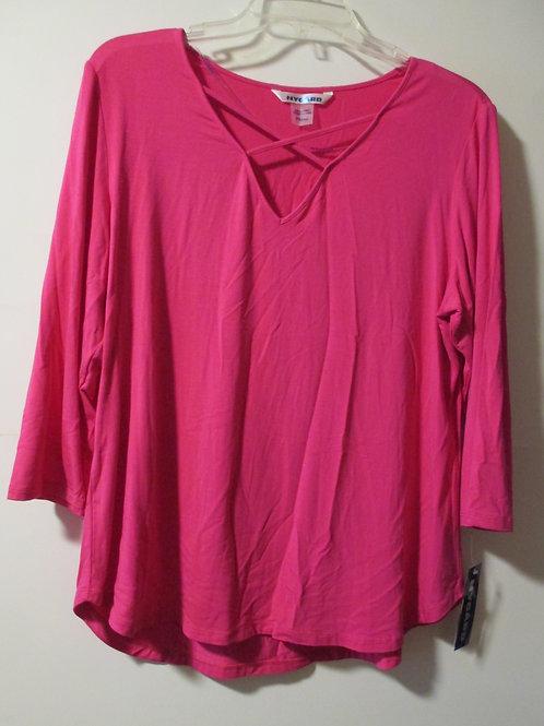 Ladies NyGard Size Medium Petite Fuchsia 3/4 Sleeves Top