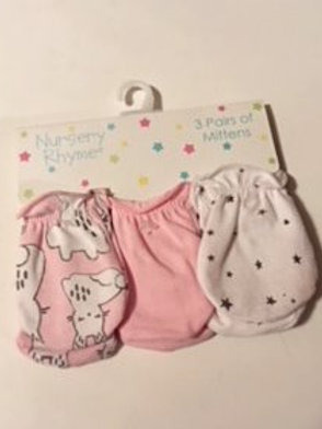 Baby Girls Size 0 - 6 Months Hand Mittens by Nursery Rhyme