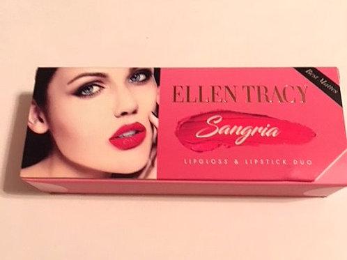 Ellen Tracy Sangria Lipgloss & Lipstick Set
