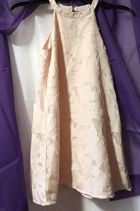 Girls Size Small 7 - 8 Pink Sleeveless Dress