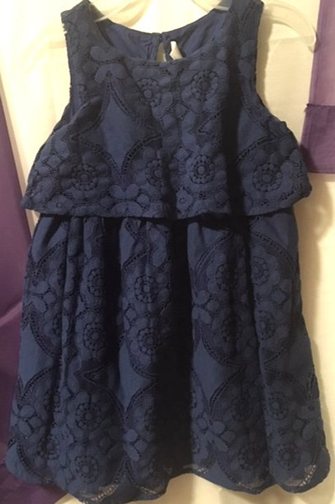 Toddler Girls Size 4 Blue Sleeveless Dress