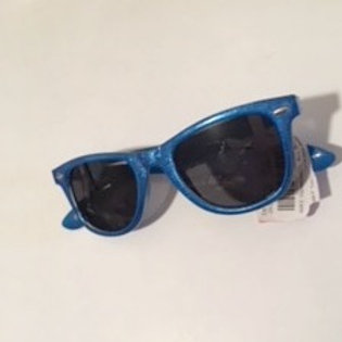 Ladies Blue Glitter Sunglasses
