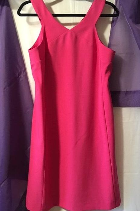 Ladies Fuschia Sleeveless Straight Dress