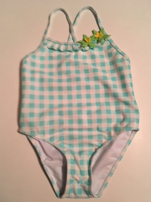 Girls Size 5 Mint Green One Piece Swimsuit