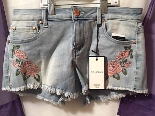 Juniors Size 7 Light Blue Jean Shorts