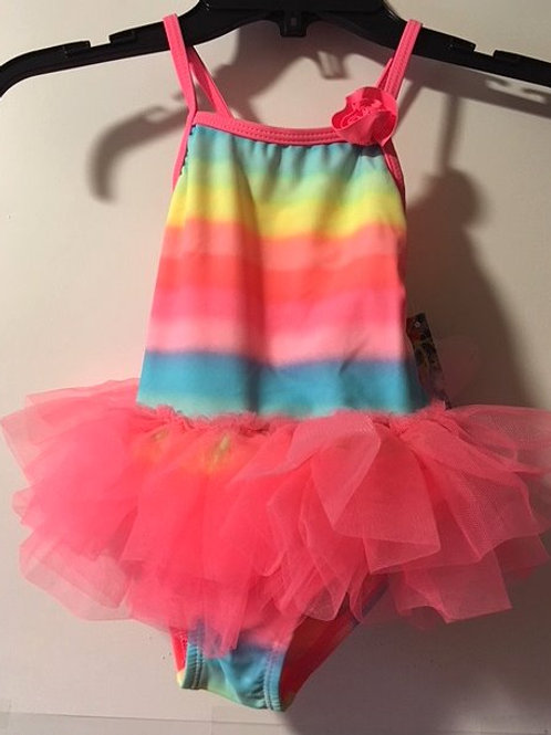 Toddler Girls Size 2T One Piece Coral Swimsuit